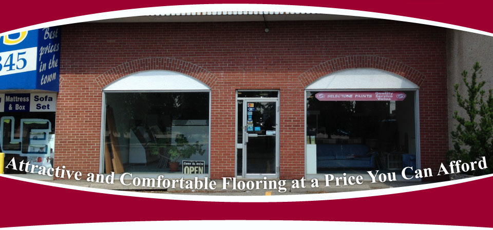 Attractive and Comfortable Flooring at a Price You Can Afford / store front